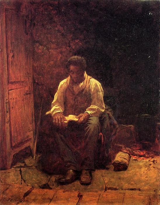 O senhor é meu pastor por Jonathan Eastman Johnson (1824-1906, United Kingdom)
