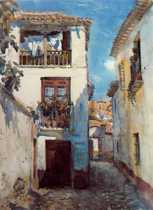 Beco em Albaicín por Jorge Apperley (George Owen Wynne Apperley) (1884-1960, United Kingdom)