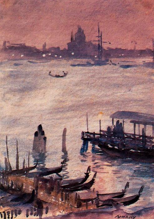 Embarcadero, Venecia por Jorge Apperley (George Owen Wynne Apperley) (1884-1960, United Kingdom)