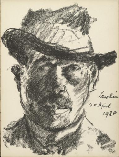 Self-Portrait 3 por Lovis Corinth (Franz Heinrich Louis) (1858-1925, Netherlands)