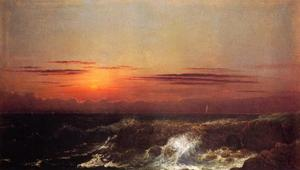 Martin Johnson Heade - pôr do sol na mar