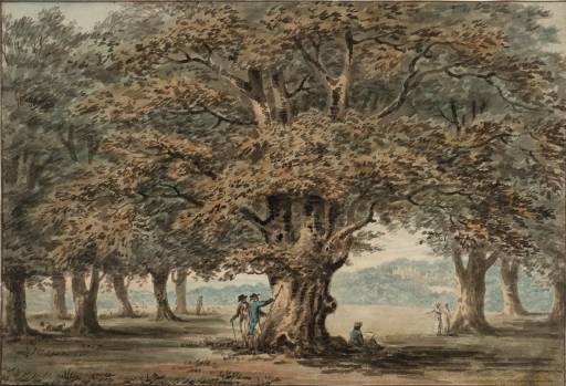 Windsor Park por Paul Sandby (1798-1863, United Kingdom)