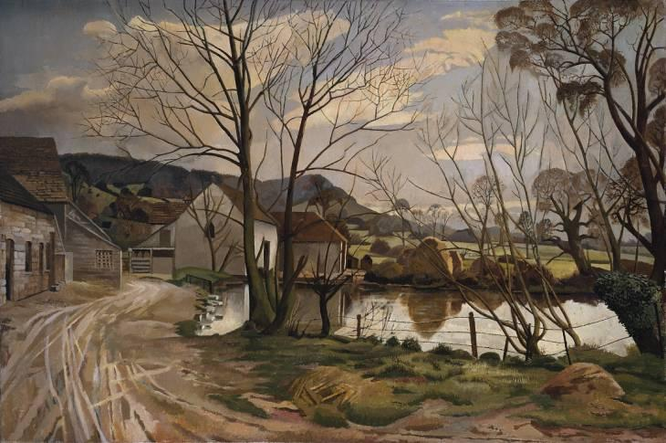 quinta lagoa por Stanley Spencer (1891-1959, United Kingdom) | ArtsDot.com