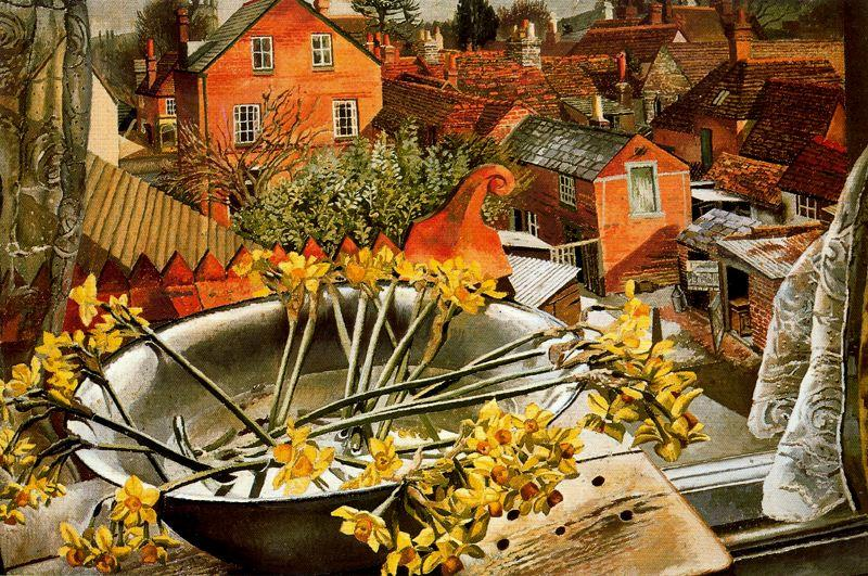 do `artist's` estúdio por Stanley Spencer (1891-1959, United Kingdom)