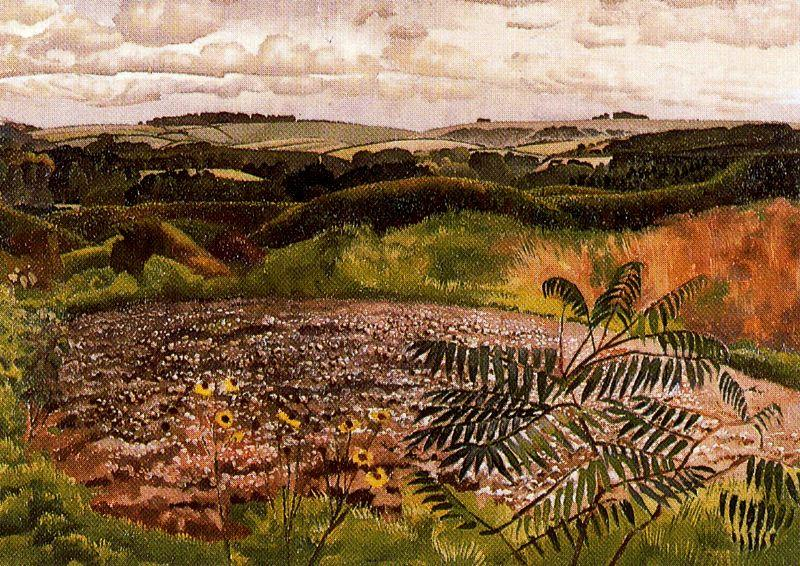 Paisagem. Burghclere por Stanley Spencer (1891-1959, United Kingdom)