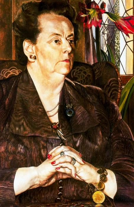 Sra Frank JP por Stanley Spencer (1891-1959, United Kingdom)