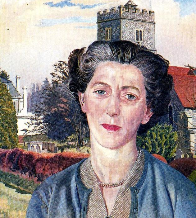Retrato de Rachel Westropp por Stanley Spencer (1891-1959, United Kingdom)