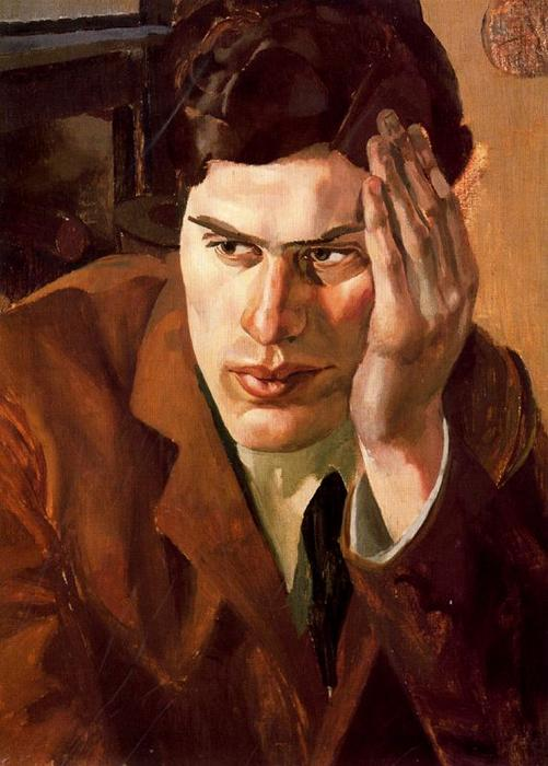 Retrato de Richar Carline por Stanley Spencer (1891-1959, United Kingdom)