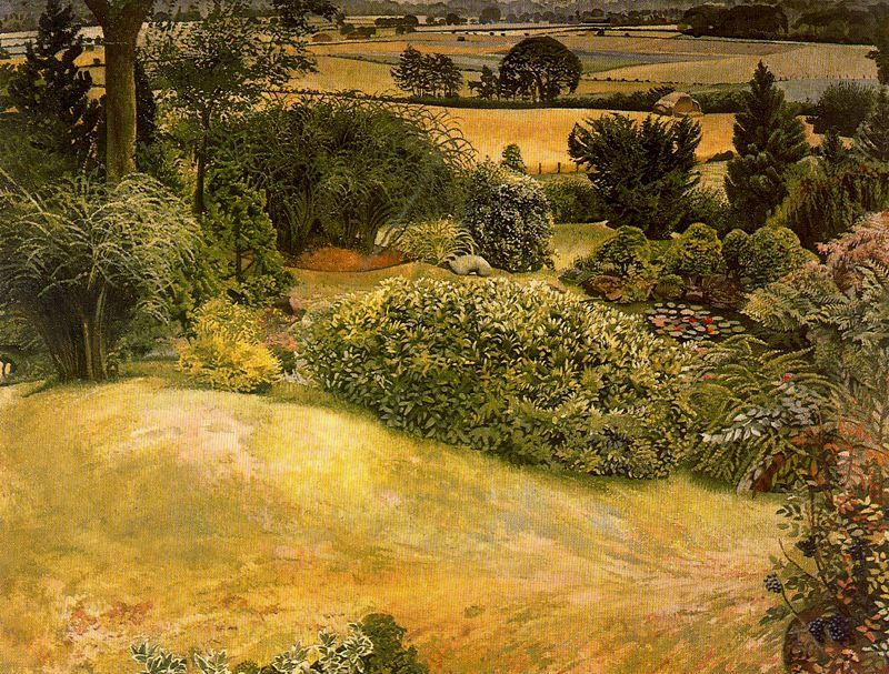 jardim rock . cookham dene por Stanley Spencer (1891-1959, United Kingdom)