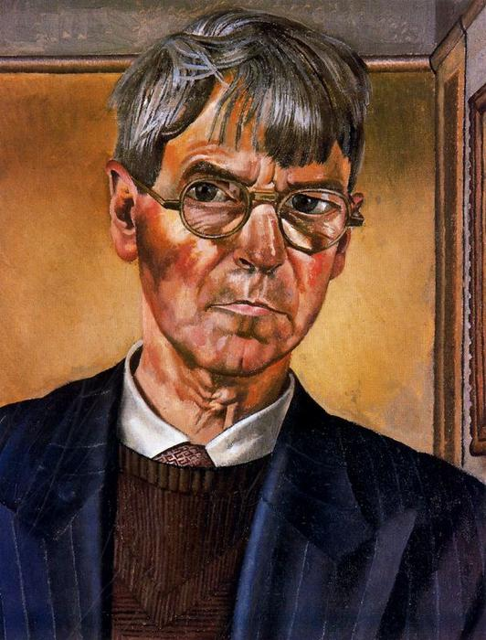 retrato de auto por Stanley Spencer (1891-1959, United Kingdom) | ArtsDot.com
