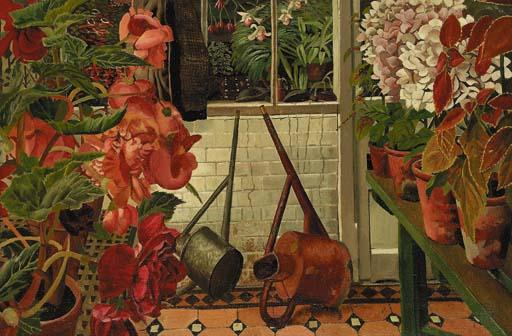 o estufa por Stanley Spencer (1891-1959, United Kingdom) | ArtsDot.com