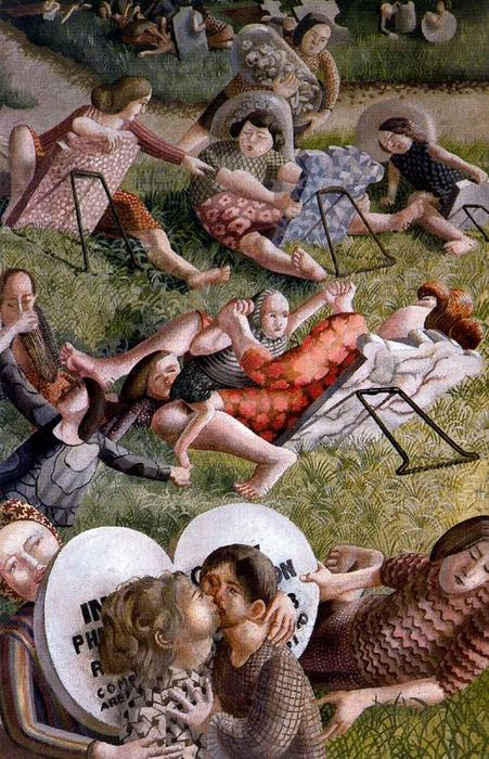 A ressurreição. Reunion 2 por Stanley Spencer (1891-1959, United Kingdom)