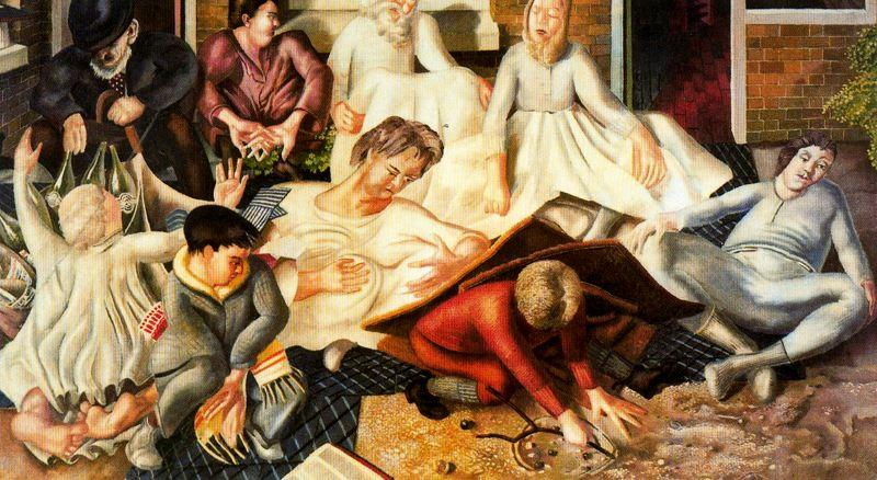Os moradores e Santos 1 por Stanley Spencer (1891-1959, United Kingdom)