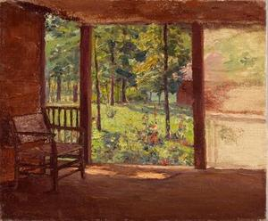 Theodore Clement Steele - a vista do `porch`