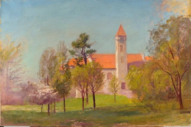 Campus Tower por Theodore Clement Steele (1847-1926, United States)
