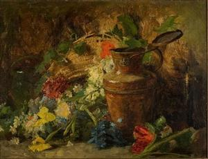 Theodore Clement Steele - flores e vaso