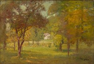 Theodore Clement Steele - Paisagem e White Cottage