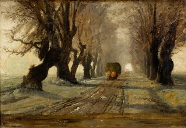 Road to Schleissheim 1 por Theodore Clement Steele (1847-1926, United States)