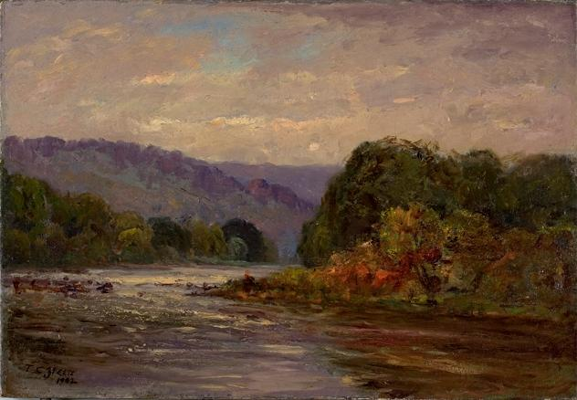 Os Rapids por Theodore Clement Steele (1847-1926, United States)