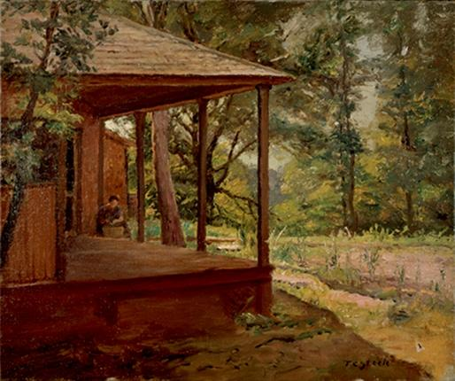 Vista do Porch por Theodore Clement Steele (1847-1926, United States)