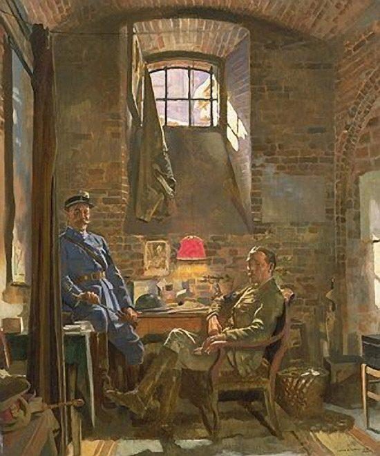 Adega, Amiens por William Newenham Montague Orpen (1878-1931, Ireland)