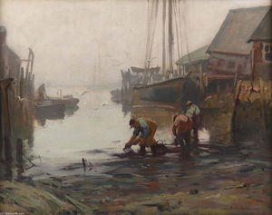 Emile Albert Gruppé - Clamming
