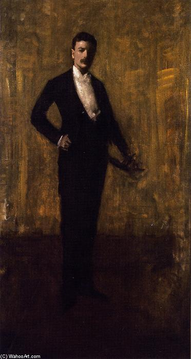 colbert huntington greer , esboço retrato, óleo sobre tela por William Merritt Chase (1849-1916, United States)