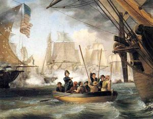 Thomas Birch - Commodore Perry Deixando o Law..
