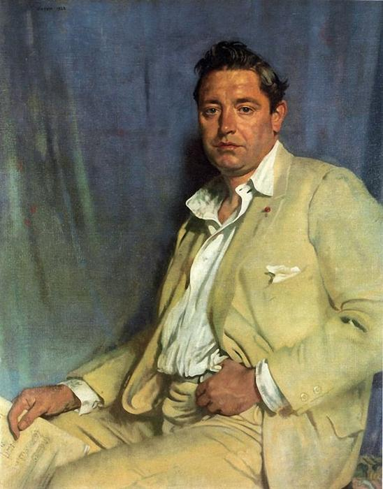 Contagem John McCormack por William Newenham Montague Orpen (1878-1931, Ireland)