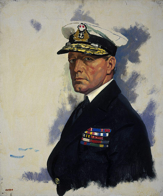 David Beatty, 1o Earl Beatty, óleo sobre tela por William Newenham Montague Orpen (1878-1931, Ireland)