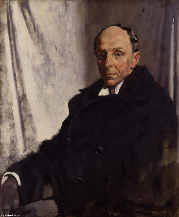 Edgar Algernon Robert Gascoyne Cecil, 1º Visconde de Cecil Chelwood por William Newenham Montague Orpen (1878-1931, Ireland)