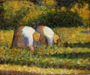 Georges Pierre Seurat - quinta mulheres na trabal..