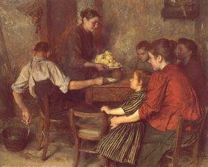 Émile Friant - A Repasto Frugal
