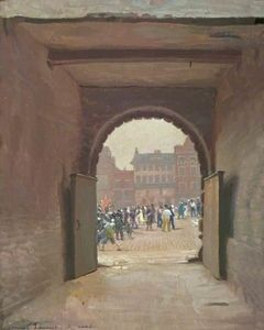 Ernest Townsend - A Glimpse of Derby Market..