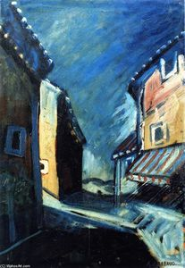 Auguste Chabaud - Casa com Sombra Painted