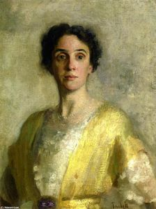 Edmund Charles Tarbell - Lady in Yellow (Sra Codman)