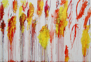 Cy Twombly - Lepanto , painel 12