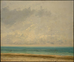 Gustave Courbet - Mar calmo