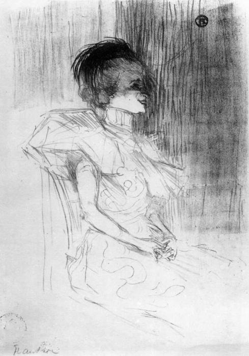 M.Lender Sitting, 1895 por Henri De Toulouse Lautrec (1864-1901, Second French Empire)