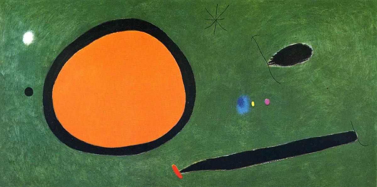 Bird's Vôo no luar, 1967 por Joan Miro (1893-1937, Spain)