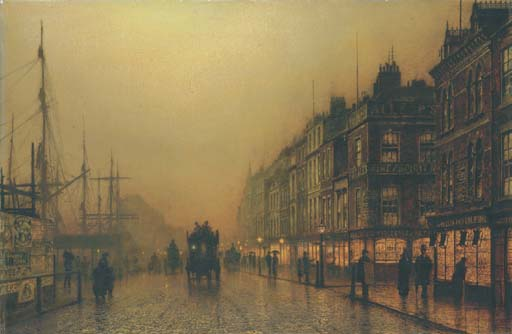 Reekie , Glasgow por John Atkinson Grimshaw (1836-1893, United Kingdom)