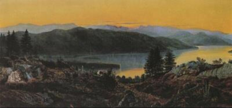 Windermere por John Atkinson Grimshaw (1836-1893, United Kingdom)