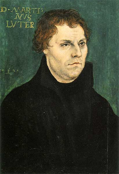 Martin Luther, óleo sobre painel por Lucas Cranach The Elder (1472-1553, Germany)