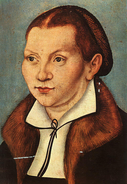 Katharina Luther, óleo sobre tela por Lucas Cranach The Elder (1472-1553, Germany)