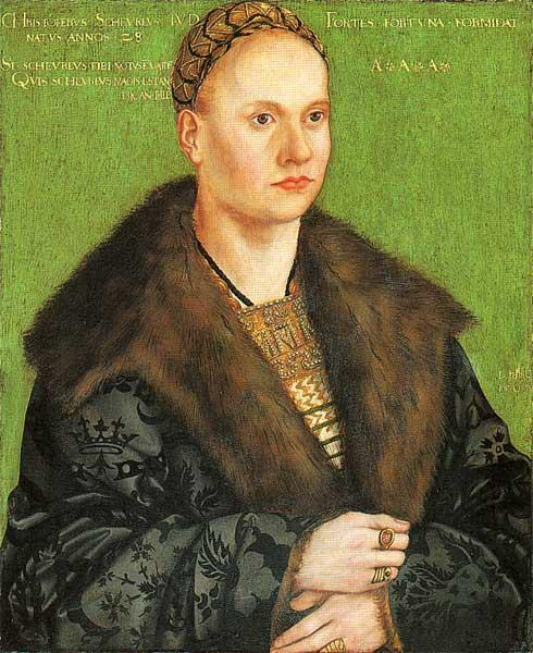 Christoph von Scheurl, óleo por Lucas Cranach The Elder (1472-1553, Germany)