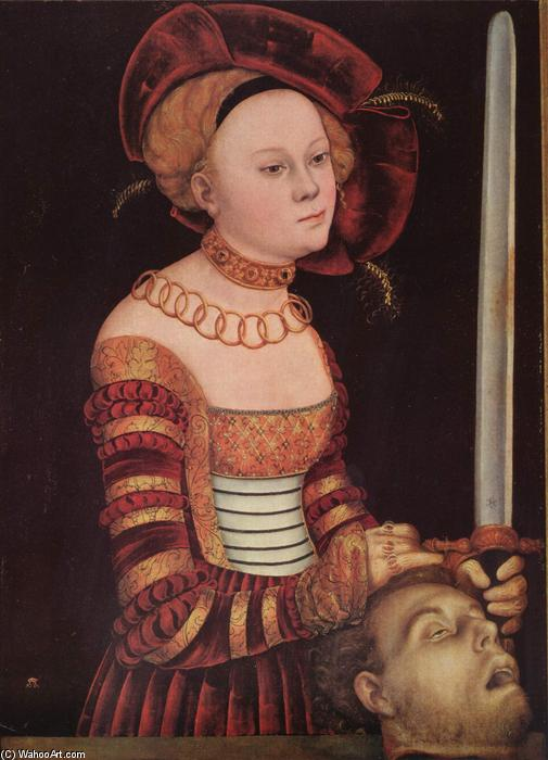 Judith, Petróleo por Lucas Cranach The Elder (1472-1553, Germany)