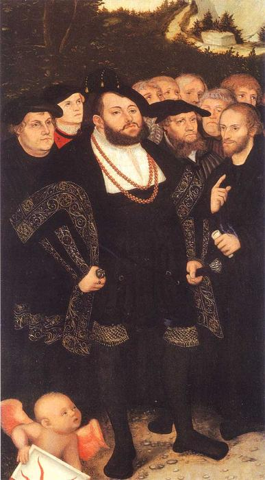 Reformators, 1535 por Lucas Cranach The Elder (1472-1553, Germany)