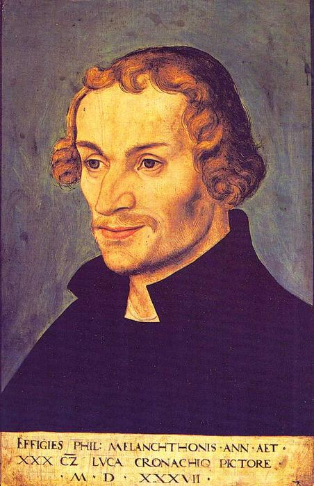 Philipp Melanchton, 1537 por Lucas Cranach The Elder (1472-1553, Germany)