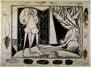 Pablo Picasso - dois nu mulheres