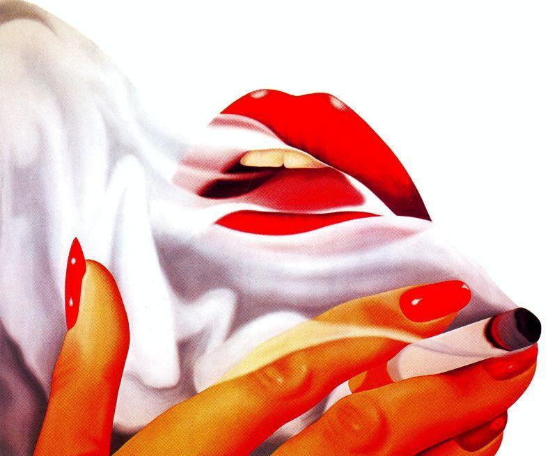 fumante por Tom Wesselmann (1931-2004, United States)